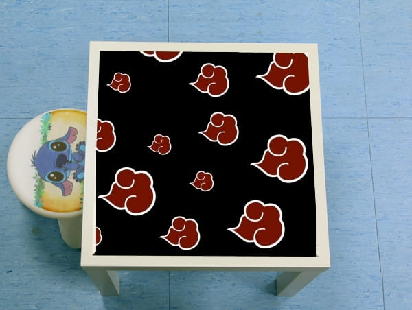 table d'appoint Akatsuki  Nuage Rouge pattern