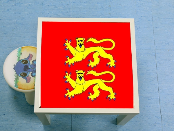 table d'appoint Drapeau Normand