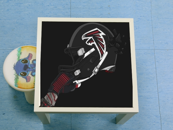 table basse football helmets atlanta table d 39 appoint personnalis e. Black Bedroom Furniture Sets. Home Design Ideas