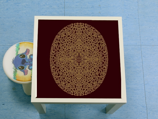 table d'appoint Geometric Bohemian Mandala