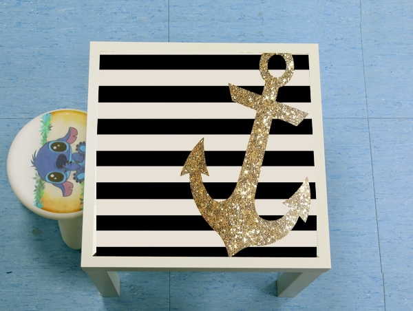 enceinte bluetooth gold glitter anchor in black