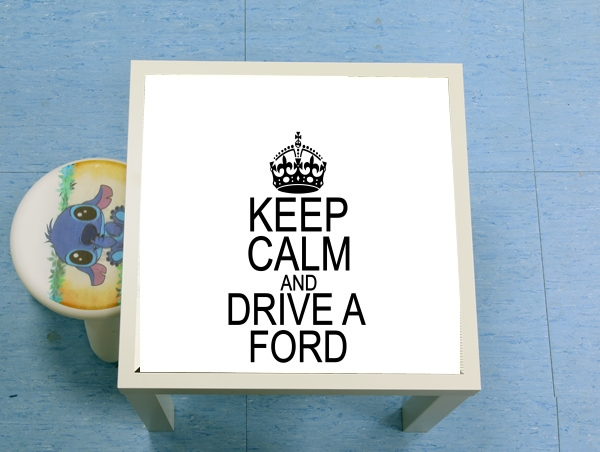 table d'appoint Keep Calm And Drive a Ford