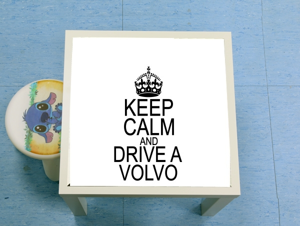 table d'appoint Keep Calm And Drive a Volvo