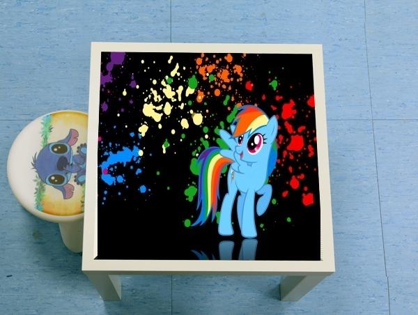 Table basse My little pony Rainbow Dash