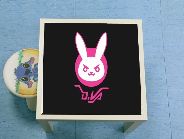 table d'appoint Overwatch D.Va Bunny Tribute Lapin Rose