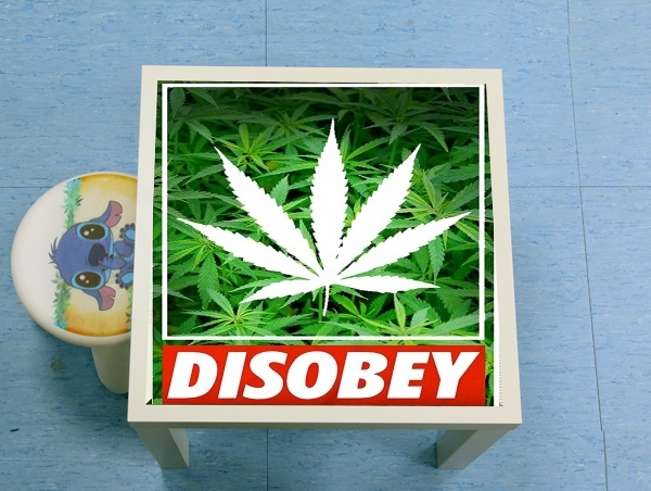table d'appoint Weed Cannabis Disobey
