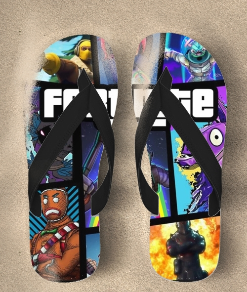 Tongs Fortnite - Battle Royale Art Feat GTA