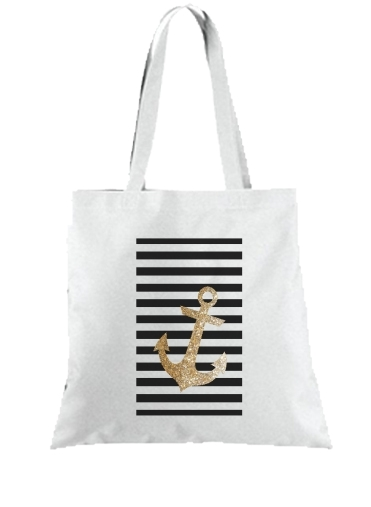 sac gold glitter anchor in black
