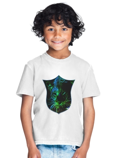 tshirt enfant Abstract neon Leopard