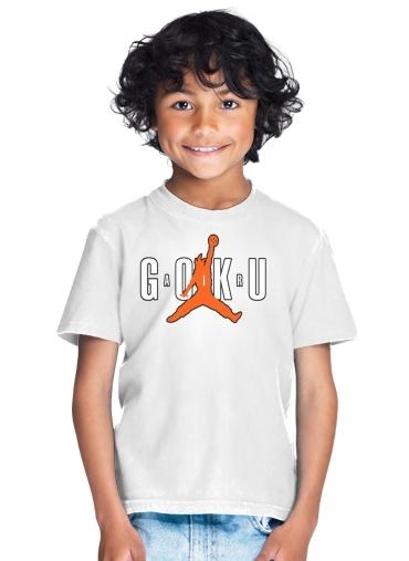 économiser 5e22f 1bfab T-shirt Enfant Blanc Air Goku Parodie Air jordan