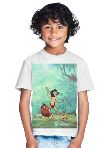 tshirt enfant Disney Hangover Mowgli Timon and Pumbaa