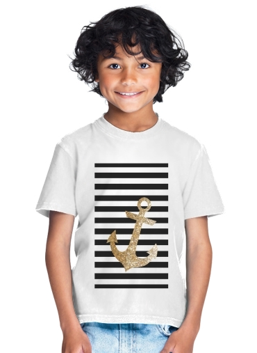 enfant gold glitter anchor in black