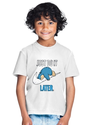 tshirt enfant Nike Parody Just do it Late X Ronflex
