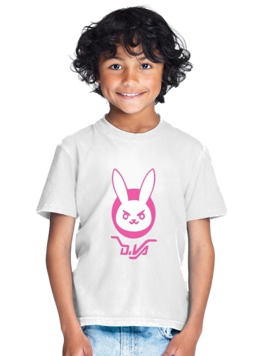 tshirt enfant Overwatch D.Va Bunny Tribute Lapin Rose