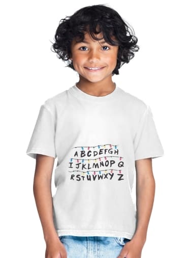 TeeShirt Stranger Things Guirlande Alphabet Inspiration