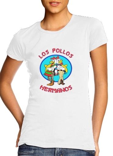 T-shirt Femme Col rond manche courte Blanc Los Pollos Hermanos