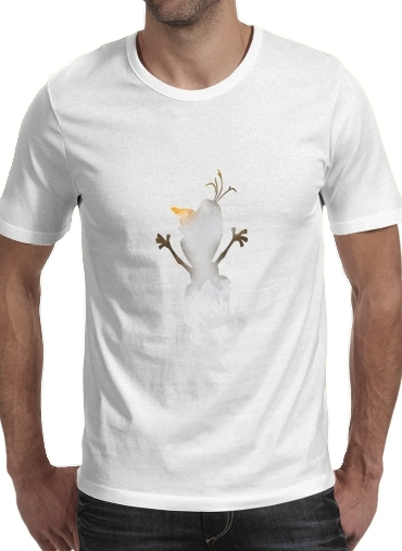 T shirt homme manche courte col rond Blanc Olaf le Bonhomme de neige inspiration