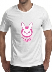tshirt Overwatch D.Va Bunny Tribute Lapin Rose