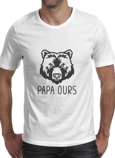 T-shirt Papa Ours homme