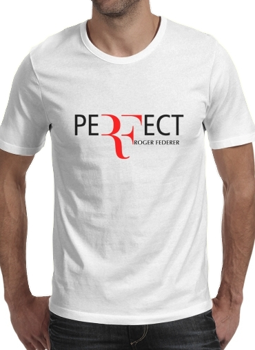 As T Rond Homme Manche Roger Col Federer Courte Perfect Shirt Blanc dxBQrCtsh