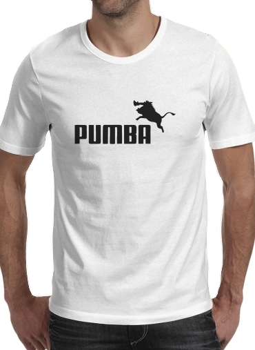 T shirt homme manche courte col rond Blanc Puma Or Pumba Lifestyle
