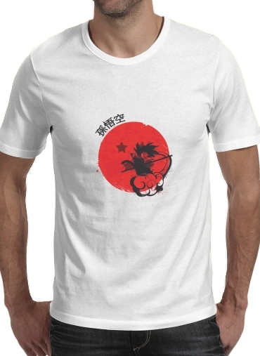 T-shirt Red Sun Young Monkey