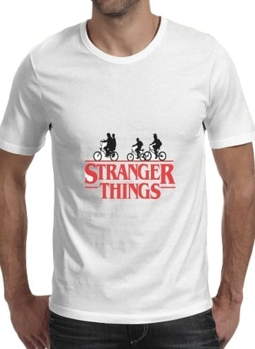 T-Shirt Stranger Things by bike