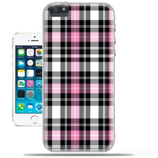 coque iphone 5s rose ecossais originale et pas cher. Black Bedroom Furniture Sets. Home Design Ideas