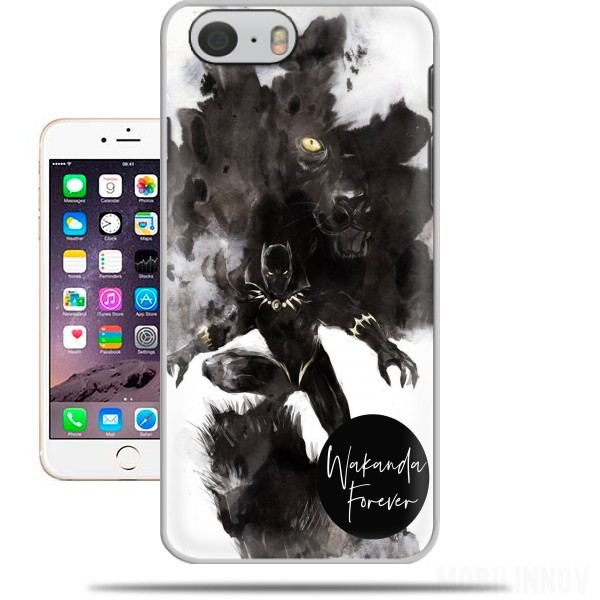 coque Black Panther Abstract Art WaKanda Forever pour Iphone 6 4.7