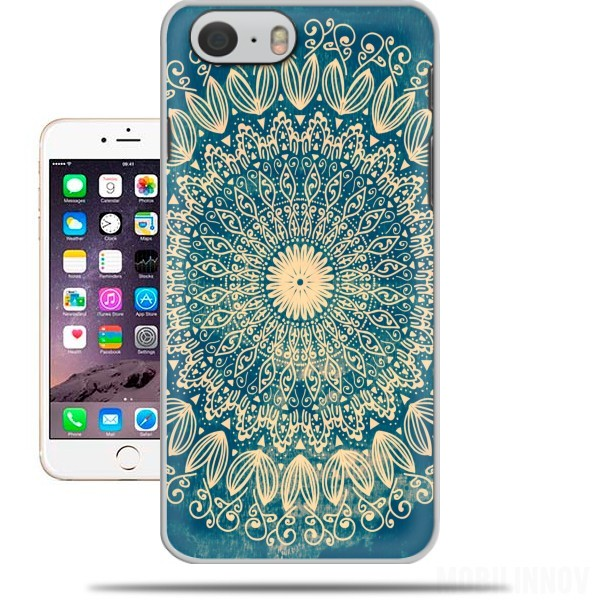 coque iphone 6 mandala bleu