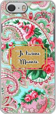 coque Floral Old Tissue - Je t'aime Mamie pour