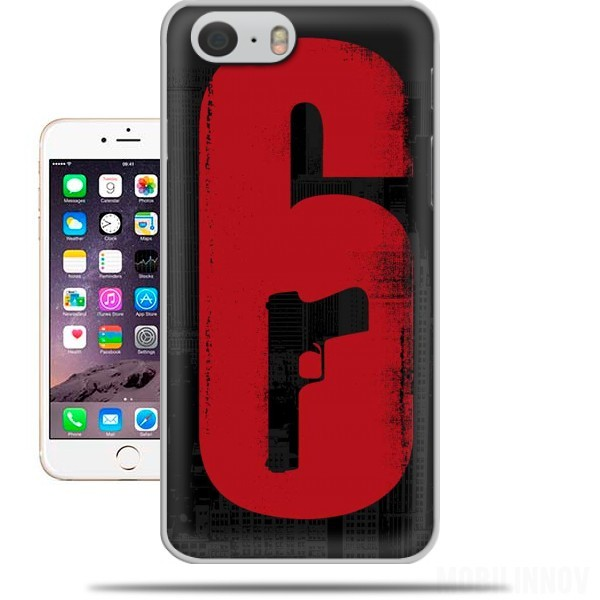coque Inspiration Rainbow 6 Siege - Pistol inside Gun pour Iphone 6 4.7