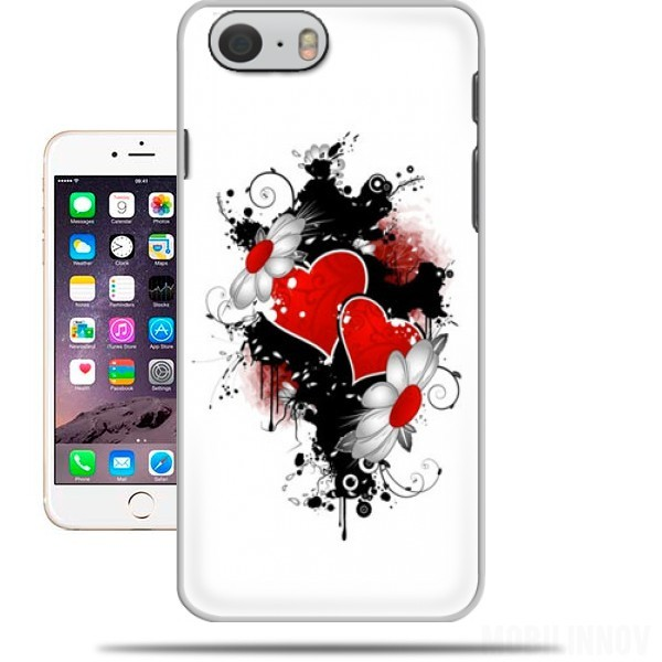 coque iphone 6 4 7 love et coeur rouge. Black Bedroom Furniture Sets. Home Design Ideas