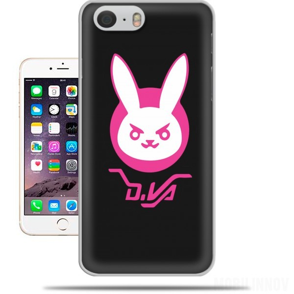 coque Overwatch D.Va Bunny Tribute Lapin Rose pour Iphone 6 4.7