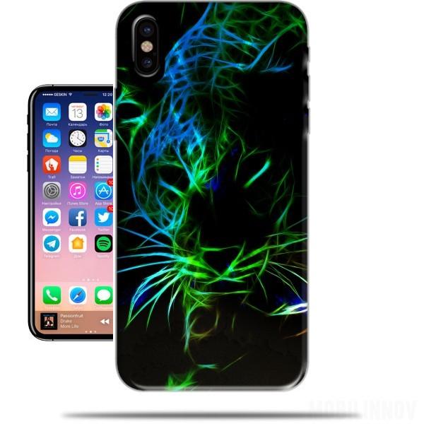 coque iphone x leopard