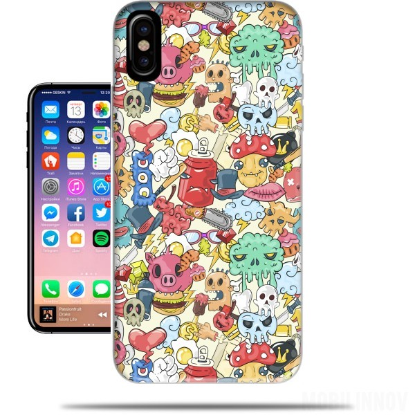 iphone x coque fantaisie