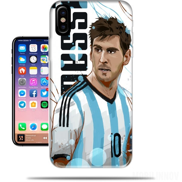 coque iphone x football messi
