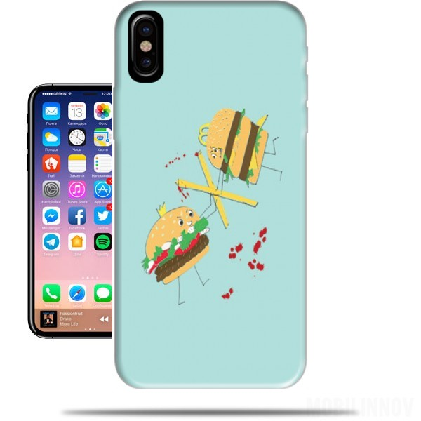 coque iphone x hamburger