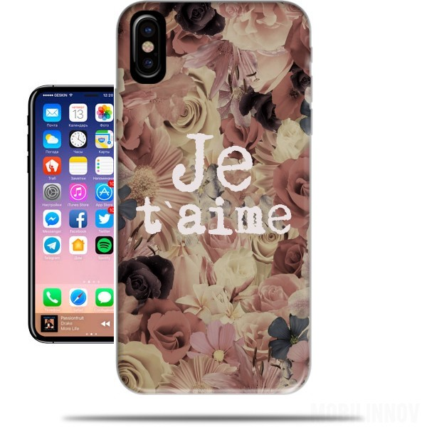 coque iphone x je t aime