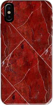 coque Iphone 6 4.7 Minimal Marble Red