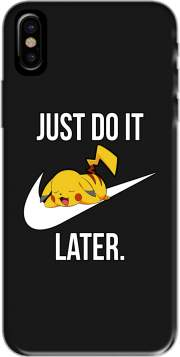 coque de téléphone Nike Parody Just Do it Later X Pikachu