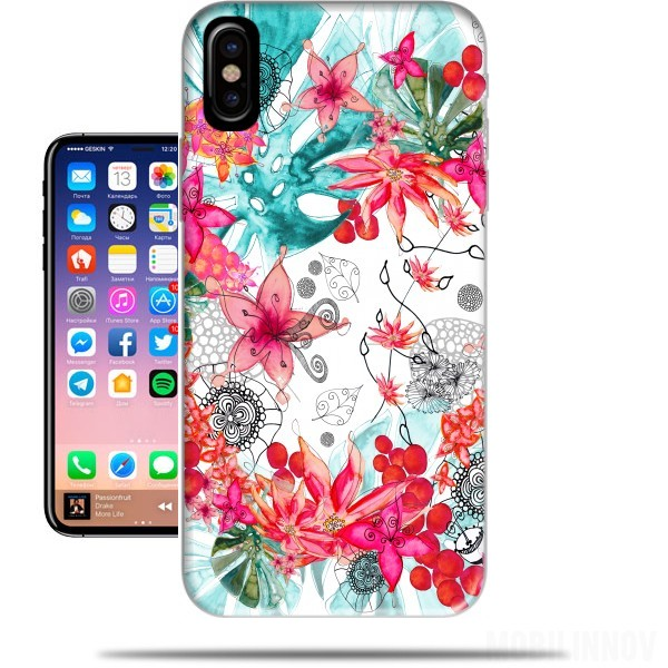 coque iphone x tropique