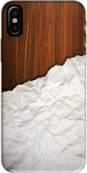 coque Iphone 6 4.7 Wooden Crumbled Paper