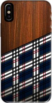 coque Iphone 6 4.7 Wooden Scottish Tartan