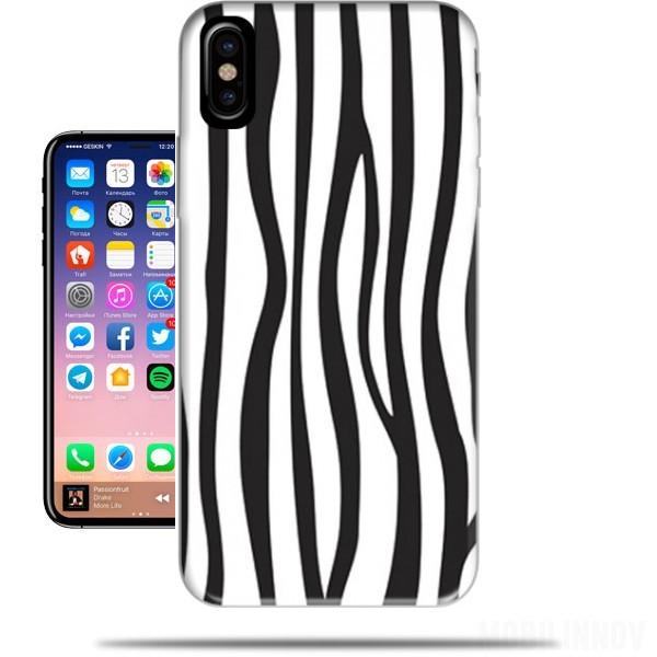 coque iphone x zebre