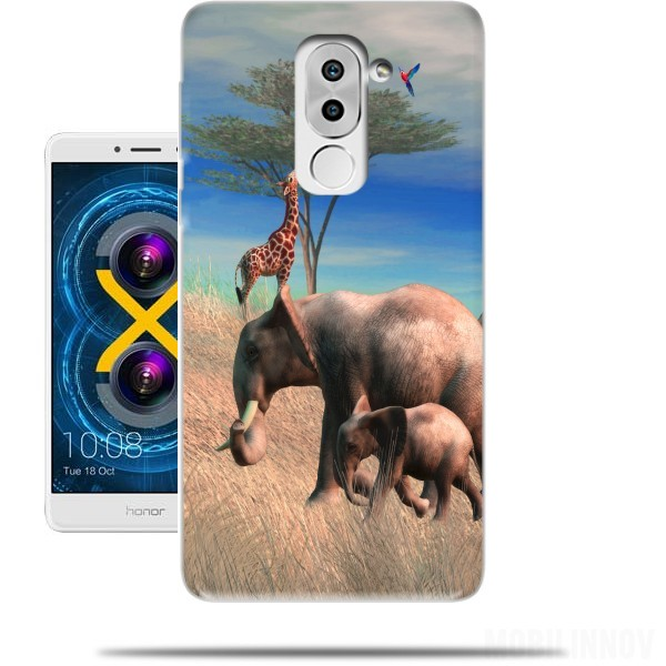 coque huawei honor 6x elephant