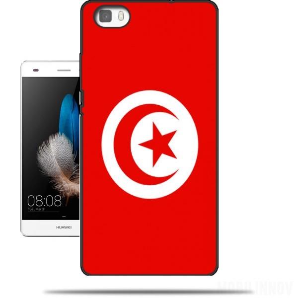 coque huawei ascend p8 lite drapeau tunisie originale et pas cher. Black Bedroom Furniture Sets. Home Design Ideas
