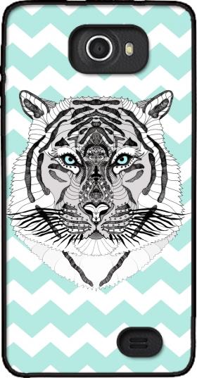 coque kazam trooper2 5 0 tigre sur chevron. Black Bedroom Furniture Sets. Home Design Ideas