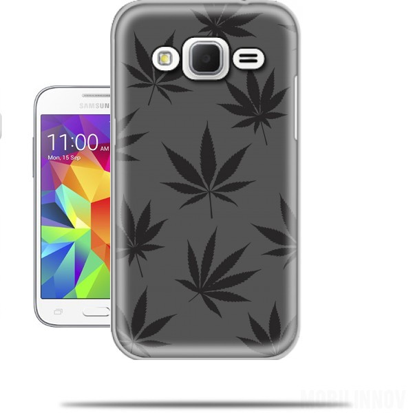 coque samsung galaxy core prime feuille de cannabis pattern. Black Bedroom Furniture Sets. Home Design Ideas