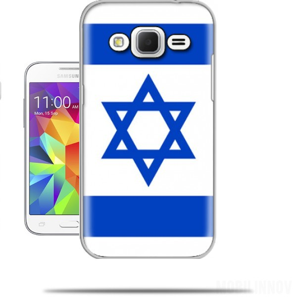 coque samsung galaxy core prime drapeau israel originale. Black Bedroom Furniture Sets. Home Design Ideas